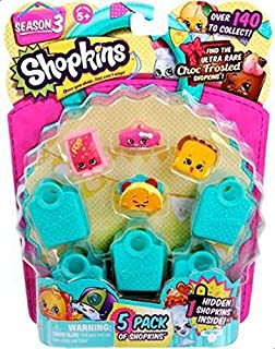 Shopkins Season 3 Store Toy, 5 Pack, Multi Color - 56030