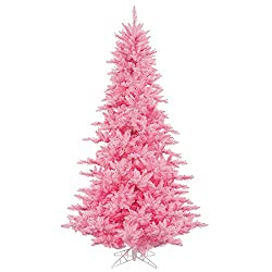 vickerman pink 4 foot artificial christmas tree pre-lit