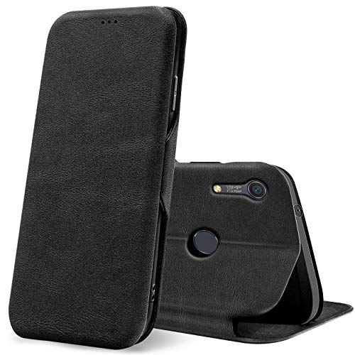 CoolGadget Schutz Hülle Tasche kompatibel mit Huawei Y6s, Klapptasche Book Etui Hülle Wallet Flip Klapphülle, Huawei Y6s Handyhülle - Schwarz