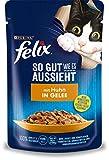 Felix Katzennassfutter So gut wie es aussieht in Gelee mit Huhn 24 x 85 gr Portionsbeutel
