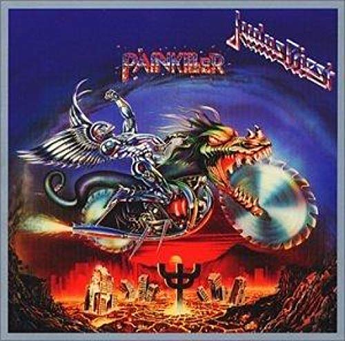 Judas Priest Painkiller Rock álbum de música popular póster lienzo pintura arte póster impresión hogar pared decoración de la sala de estar -60x60 pulgadas sin marco