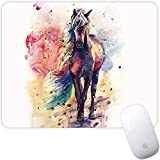 Marphe Mouse Pad Watercolor Horse Mousepad Non-Slip Rubber Gaming Mouse Pad Rectangle Mouse Pads for Computers Laptop