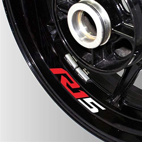 Motocicleta Reflectante Rueda Neumático Logotipo Etiquetas engomadas creativas RIM Interior decorativo decorativo Calcomanías para R15 V3 R 15 V2 (Color : 6)