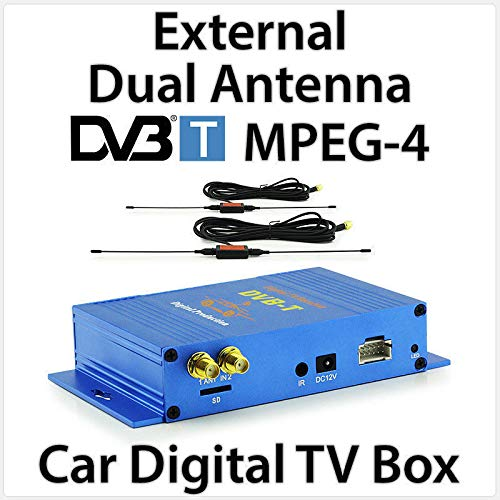 Tunez Dual-antenne DVB-T MPEG-4 digitale tv-box externe auto head unit mobiele radio ontvanger