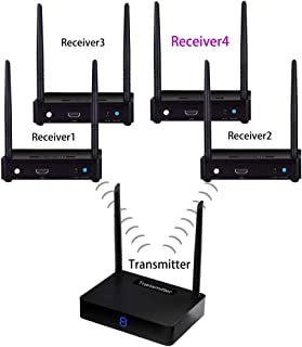 Wireless hdmi Sender and Receiver Measy HD595-4 Pass Through Walls Signal Transmission Extender/Adapter/Dongle Audio 1 Tra...