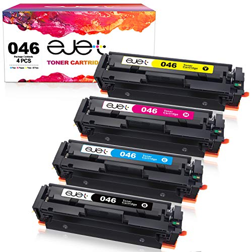 ejet Compatible Toner Cartridge Replacement for Canon 046 046H High Yield Work with Color ImageCLASS MF733Cdw MF731Cdw MF735Cdw LBP654Cdw Printer(Black, Cyan, Magenta, Yellow,4 Pack)