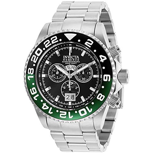 Invicta 29557 Reserve Pro Diver Reloj Bisel Negro y Verde para Hombre