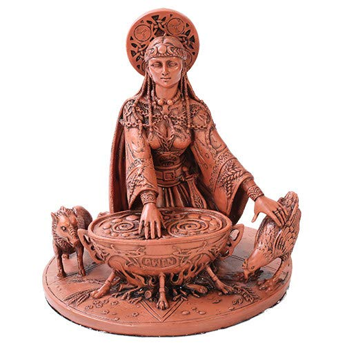 Pacific Trading Celtic Goddess Cerridwen in Color Home Decor Statue Made of Polyresin