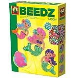 SES-Creative- Beedz Perline da Stirare Sirenetta, Multicolore, 6212