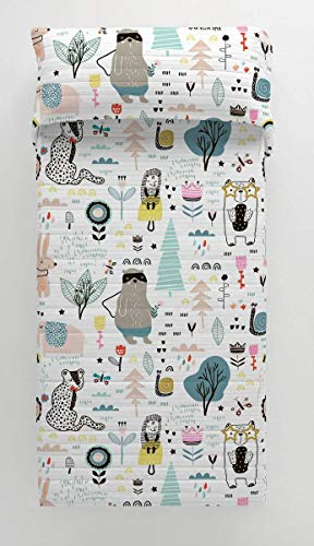 NATURALS Colcha bouti Animal Hello Cama 90