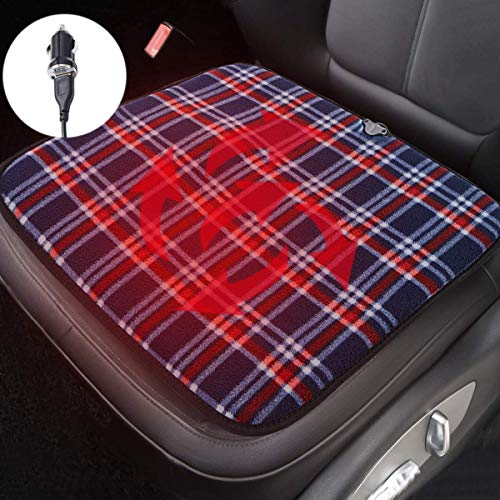 Big Ant Heated Car Seat Pad,Heated Seat Cushion 12V Car Heat Seat Cushions for Cold Weather and Winter - Universal for Car Truck SUV Home Office Chair Pet Heating Pad(1 PC)