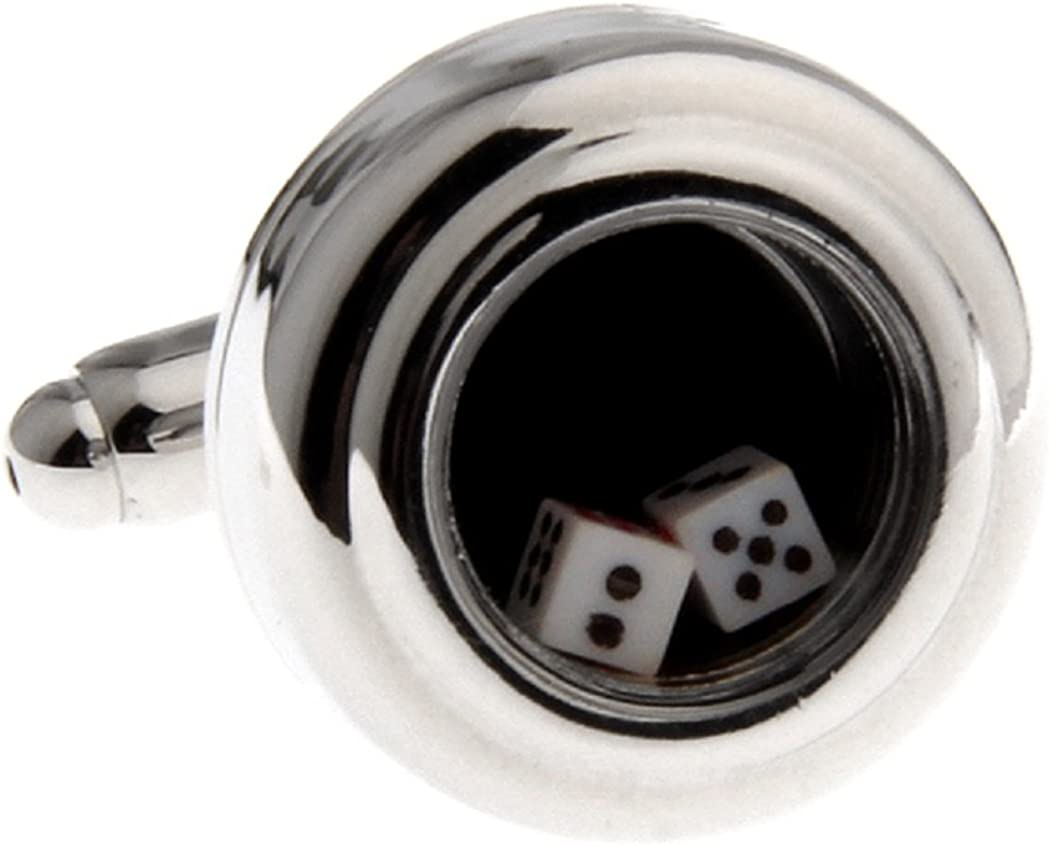 MRCUFF Dice Die Game Really Moves Pair Cufflinks in a Presentation Gift Box & Polishing Cloth