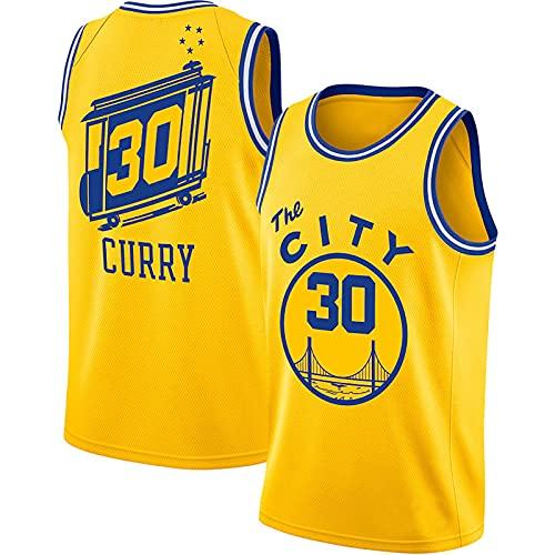 LGLE # 30 Curry - Camisetas de Baloncesto para Hombres y Mujeres, Camisetas de Baloncesto Sin Mangas para Uniformes de Baloncesto, Trajes de Baloncesto Transpirables,White,XL