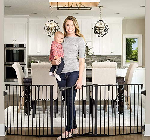 Regalo Deluxe Home Accents 74Inch Widespan Safety Gate Includes 4 Pack of Wall Mounts