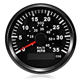 ELING GPS Speedometer Speedo Gauge 0-35MPH for Boat Yacht Vessel 3-3/8'' (85mm) 9-32V