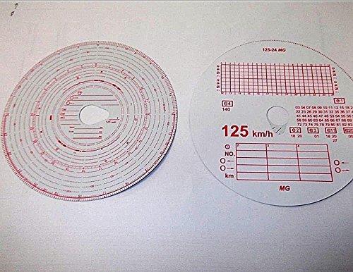 Innovo - Juego de 100 discos de tacógrafo para camiones o camiones (tacógrafo, doble cara)
