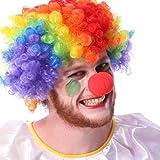 BEETEST Nariz roja de espuma traje de payaso 50 piezas divertido payaso nariz Circo Fiesta Halloween