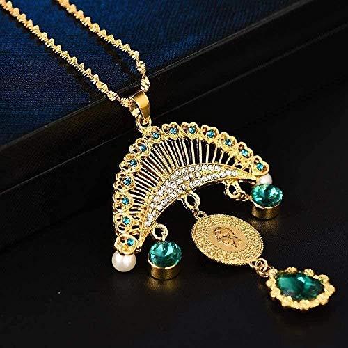 niuziyanfa Co.,ltd MetallBig Allah muslimische Halsketten für Frauen Arab S Hochzeitsgeschenke Islam Naher Osten Afrikanischer Schmuck Neu Kein verblasstes Geschenk für Frauen und Mädchen