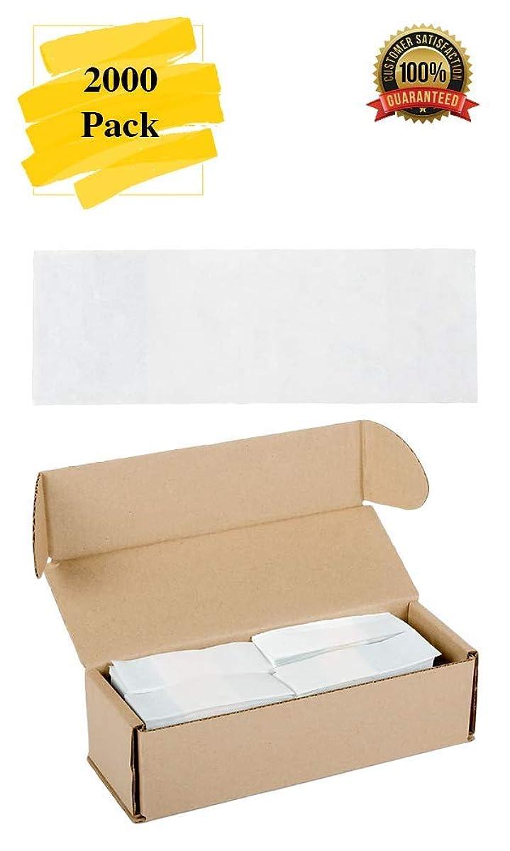 MM Foodservice Self Sealing Napkin Band, Pack of 2000 Self-Adhering Paper Napkin Band (White)
