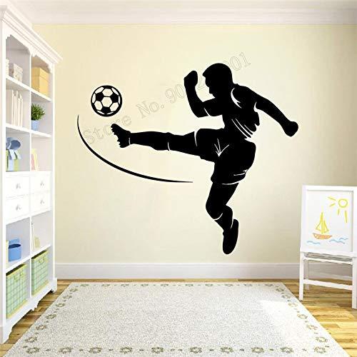 yaonuli wandtattoo kunst wanddecoratie voetbal voor jongeren kinderen kinderen wandlamp afneembare vinyl wandlamp voetbal sportwereld