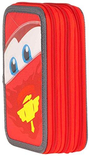 Cars-Triple Plumier 19 x 12 cm (Cerdá 2701/400)
