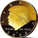 2 Stück Donald Trump Münze 2020 – vergoldete Sammelmünze, zeigen Sie Ihre Unterstützung um Amerika großartig zu halten