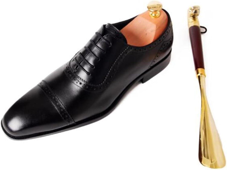 Men Oxford High-Grade First-Class Leather shoes Trend Buckle Men shoes Business Dress Wedding shoes Flat Head Men'S shoes