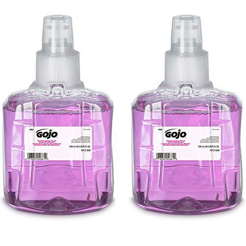GOJO Antibacterial Foam Handwash, Plum Fragrance, 1200 mL Foam Hand Soap Refill for GOJO LTX-12 Touch-Free Dispenser (Pack of 2) - 1912-02