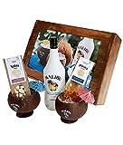 Malibu Liqueur Geschenk Set | Malibu Likör Geschenkkorb 9-teilig | Geschenk für Frauen | Geschenkideen mit Alkohol | Präsentkorb gefüllt