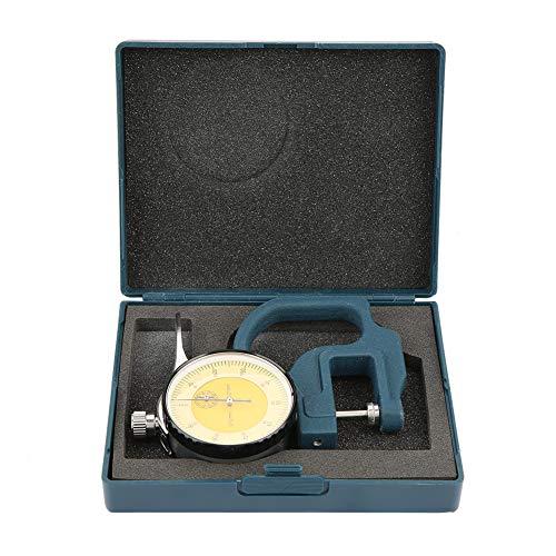 Millimeter tum 0-10 mm bärbar urtavla visning tjocklek mätare för plåt rör mätverktyg med förvaringslåda