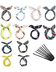 LZYMSZ Twist Bow hoofdbanden, ijzerdraad boog geknoopte bloem, haarband, yoga-hoofd, wraps sport tulband, vintage print, Criss Kruis, geknoopt voor vrouwen en meisjes
