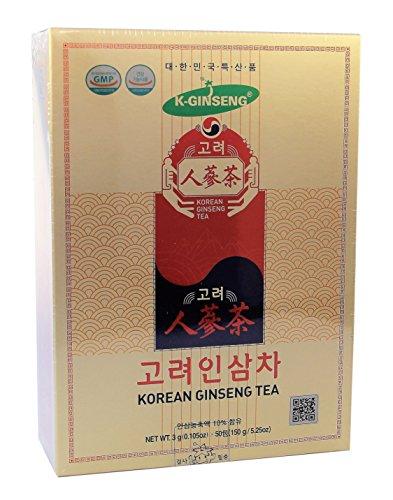 KOREAN GINSENG TEA Instantzubereitung für Teegetränk mit weißem Ginseng-Extrakt 50x 3g