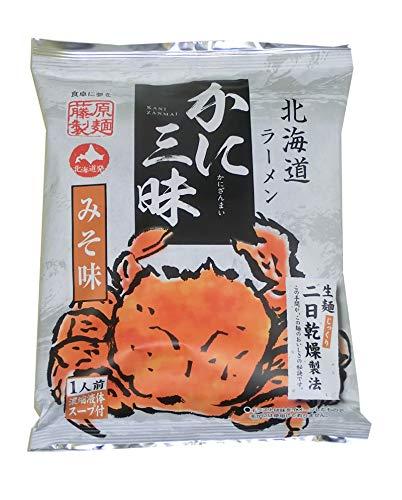 藤原製麺 北海道ラーメンかに三昧味噌 107g ×20箱