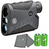 Lumintrail SigSauer KILO1000BDX 5x20mm Digital Ballistic Laser Rangefinder, SpectraCoat Anti-Reflection coatings, with 2 CR2 Batteries and a Microfiber Cleaning Cloth