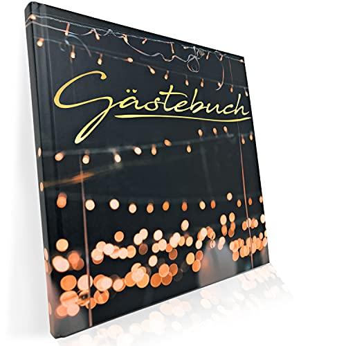 Gästebuch für Hochzeit Geburtstag Party - Hochzeitsgästebuch - Mattes Hardcover mit 100 blanko...