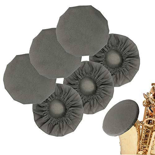 6 Pcs Music Instrument Bell Cover 5'' for Trumpets, Alto saxophone, Bass Clarinet, Cornet Bell Cover,The Bell Cover for Safe Play of Musical Instruments(Grey)