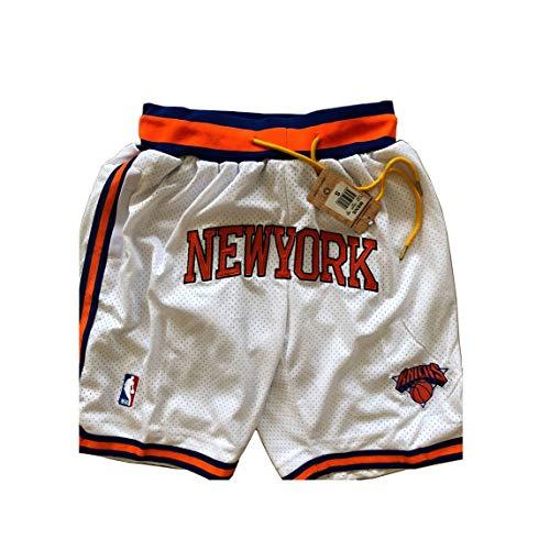 ULIIM Basketball Knicks Pantalón Corto para Hombre Mesh Retro New York Knicks Swingman Pantalones Deportivos para M-XXL