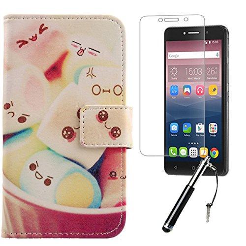 Lankashi Lovely 3in1 PU Flip Leder Tasche Für Alcatel One Touch Pixi 4 6