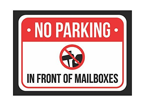 GEEN Parkeren Voor brievenbussen Print Rood, Wit en Zwart Kennisgeving Parkeren Metaal 8x12 Klein Teken - 1 Pack Tekenen