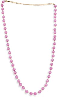 Accessher Waist Chain Kamarband with Pink Pearls for Women