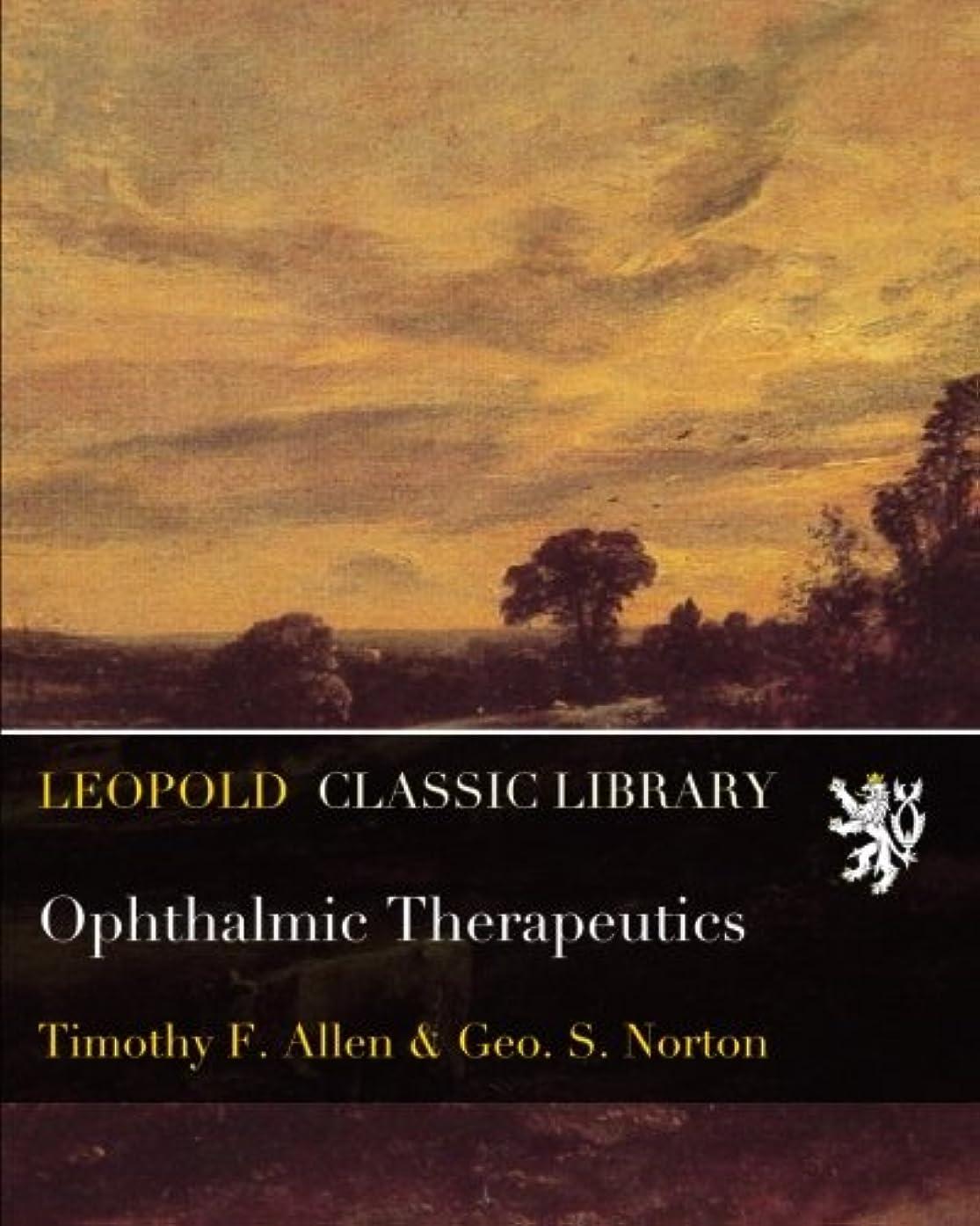軽蔑する銃西Ophthalmic Therapeutics