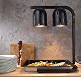 HENDI Scaldavivande a lampade infrarosse, Alluminio, negro