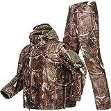 YoMont Completo Uomo Tattico Camouflage Suit 2 Pezzi Set Outdoor Caccia Trekking Campeggio Combat Militare Giacche da Trekking Impermeabili + Pantaloni Mimetico Abbigliamento 2XL