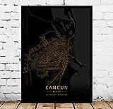 WUCHONGSHUAI Leinwanddruck,Cancun-Mexiko, Moderne