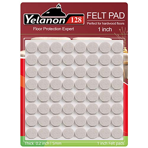 Felt Furniture Pads -128 Pcs Furniture Pads Self Adhesive, Cuttable Felt Chair Pads, Anti Scratch Floor Protectors for Furniture Feet Chair Legs, Furniture Felt Pads for Hardwoods Floors, Beige