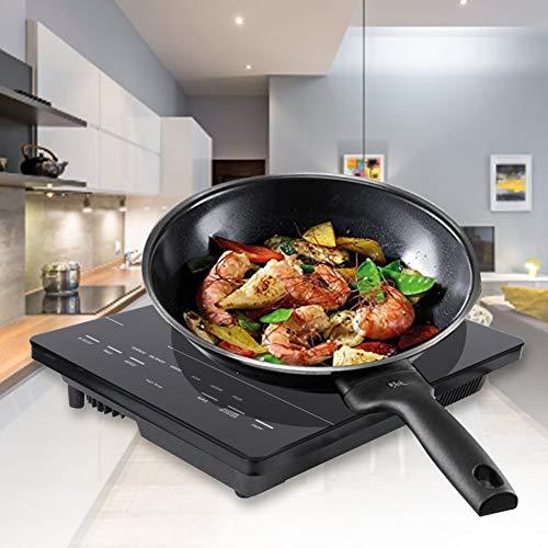 Placa Inducción Portátil, 1850W Eléctrica Placa de Inducción con Panel Microcristalino Completo Control Táctil para Hogar Cocina para Cocinar, Fr