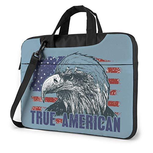 Adults Student Laptop Bag Protective Notebook Computer Protective Cover Handbag American Eagle Against USA Flag