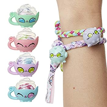 Kitten Catfé Meowble Yarn Ball Bracelet 4 Pack Cat Ball Charms & Clasps Hidden in A Ball of Yarn to Create Your Own Friendship Bracelets with Charms! 24 to Collect in Series #1