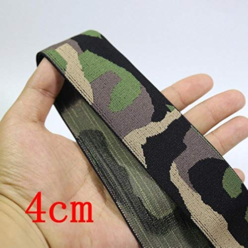 Huidvriendelijk zacht camouflage elastische band geborduurd elastische broek riem rood elastisch geweven band rubberen legging No.4