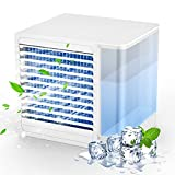 Ansinna Portable Air Conditioner, Mini Air Conditioner for Small Room, Air Cooler with Night Light, Cooling Fan